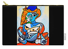 New  Picasso By Nora  Nude Woman With Turkish Bonnet Carry-all Pouch