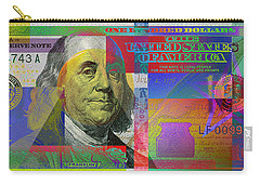 New Pop-colorized One Hundred Us Dollar Bill Carry-all Pouch