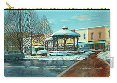 Triangle Park In Winter Carry-all Pouch