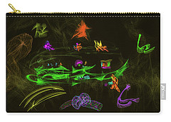 Carry-all Pouch featuring the digital art New Wold #g9 by Leif Sohlman