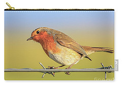 New Year Robin Carry-all Pouch by Roy McPeak