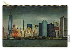 Carry-all Pouch featuring the mixed media New York After Storm by Dan Haraga