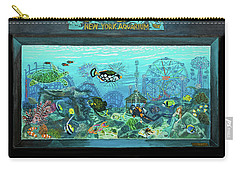 New York Aquarium Carry-all Pouch by Bonnie Siracusa