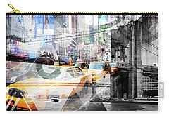 New York City Geometric Mix No. 9 Carry-all Pouch by Melanie Viola