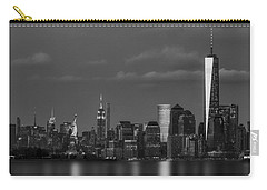Carry-all Pouch featuring the photograph New York City Icons Bw by Susan Candelario