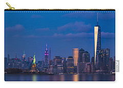 Carry-all Pouch featuring the photograph New York City Icons by Susan Candelario