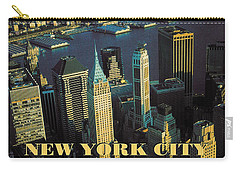 New York City Poster - Downtown Manhattan Skyline Carry-all Pouch