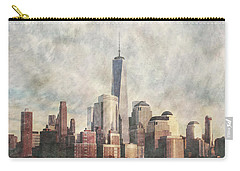 Carry-all Pouch featuring the photograph New York City Skyline Including The World Trade Centre by Anthony Murphy