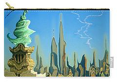 New York Fantasy Skyline - Modern Artwork Carry-all Pouch
