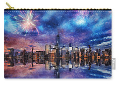 New York Fireworks Carry-all Pouch by Ian Mitchell