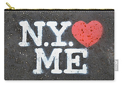 New York Loves Me Stencil Carry-all Pouch