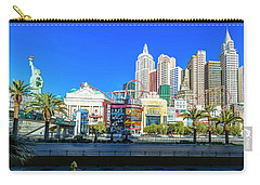 New York New York Casino From The East  2 To 1 Ratio Carry-all Pouch by Aloha Art