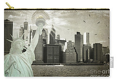 New York New York Da Carry-all Pouch by Judy Wolinsky