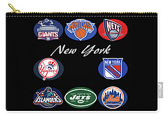 New York Professional Sport Teams Collage  Carry-all Pouch
