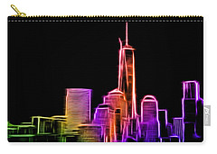 Carry-all Pouch featuring the photograph New York Skyline by Aaron Berg