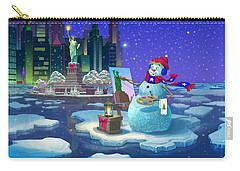 New York Snowman Carry-all Pouch by Michael Humphries