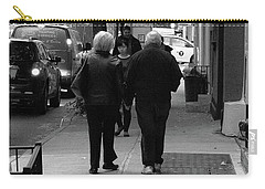 Carry-all Pouch featuring the photograph New York Street Photography 75 by Frank Romeo
