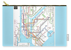 New York Subway Map Carry-all Pouch