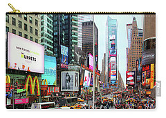 New York Times Square Panorama Carry-all Pouch by Kasia Bitner