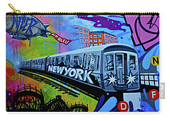 New York Train Carry-all Pouch by Joan Reese
