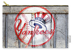 New York Yankees Top Hat Rustic 2 Carry-all Pouch