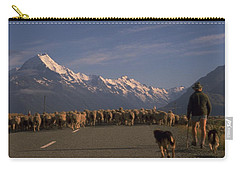 Carry-all Pouch featuring the photograph New Zealand Mt Cook by Travel Pics