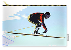 New Zealand Winter Sports Vintage Travel Poster Carry-all Pouch