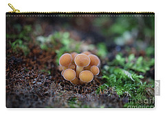 Newborn Mushroom Close-up Carry-all Pouch