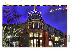 Carry-all Pouch featuring the photograph Newbury Street And The Prudential - Back Bay - Boston by Joann Vitali