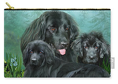 Carry-all Pouch featuring the mixed media Newfoundlander by Carol Cavalaris
