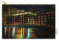Carry-all Pouch featuring the photograph Newly Gentrified Warehouse At Night by Chris Lord