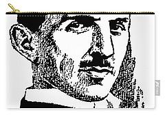 Carry-all Pouch featuring the digital art Newspaper Nikola Tesla  by Daniel Hagerman