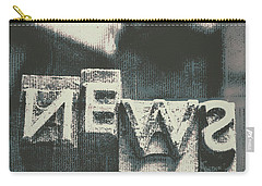 Newspaper Printing Press Art Carry-all Pouch