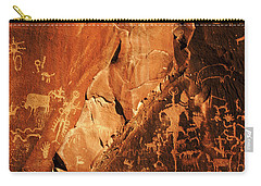 Bison Hunt On Horseback Carry-all Pouch