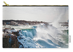 Carry-all Pouch featuring the photograph Niagara Falls 4589 by Guy Whiteley