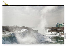 Carry-all Pouch featuring the photograph Niagara Falls 4601 by Guy Whiteley