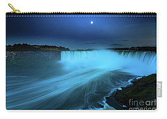 Niagara Falls And Moon  Carry-all Pouch by Mariusz Czajkowski
