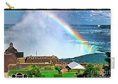 Niagara Falls And Welcome Centre With Rainbow Carry-all Pouch
