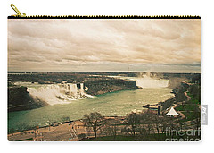 Carry-all Pouch featuring the photograph Niagara Falls by Mary Machare