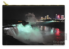 Niagara Night Lights Carry-all Pouch by Gina Savage