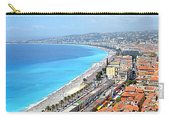 Nice France Coastline Carry-all Pouch by Corinne Rhode