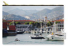 Carry-all Pouch featuring the photograph Nice Harbour Life by Rasma Bertz