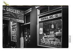 Night At Central Grocery In Black And White Carry-all Pouch