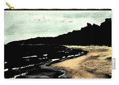 Night Beach Carry-all Pouch by Michelle Calkins