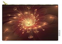 Carry-all Pouch featuring the digital art Night Bloom by Svetlana Nikolova