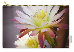 Carry-all Pouch featuring the photograph Night Blooming Cereus by Marilyn Smith