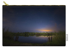 Night Brush Fire In The Everglades Carry-all Pouch