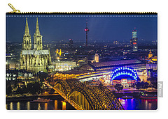 Night Falls Upon Cologne 2 Carry-all Pouch
