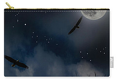 Carry-all Pouch featuring the photograph Night Flight by Ken Frischkorn