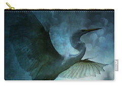 Night Flight Of The Great Egret Carry-all Pouch by Maria Urso